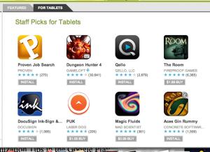 Google Play Tablet App
